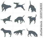 vector dogs silhouettes. set of ... | Shutterstock .eps vector #1033718203