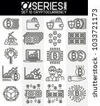 set of thin line design icons... | Shutterstock .eps vector #1033721173
