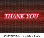 thank you text neon light   Shutterstock .eps vector #1033725127