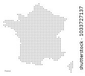 dot map of france. vector eps10. | Shutterstock .eps vector #1033727137