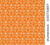 geometric ornament. orange and... | Shutterstock .eps vector #1033733857