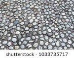close up of stone floor  ... | Shutterstock . vector #1033735717