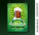 saint patrick's day party flyer ... | Shutterstock .eps vector #1033764157