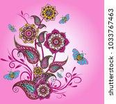 paisley pattern. ornate...   Shutterstock .eps vector #1033767463