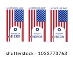 american flag and soldier... | Shutterstock .eps vector #1033773763