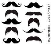 mustache big set  | Shutterstock . vector #1033774657