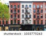 buildings on duane street in... | Shutterstock . vector #1033775263