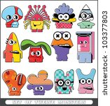 set of twelve monsters | Shutterstock .eps vector #103377803