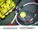 close up view of two tennis... | Shutterstock . vector #1033786807