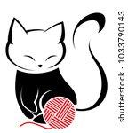 illustrations of black cat... | Shutterstock .eps vector #1033790143