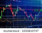 financial stock market graph... | Shutterstock . vector #1033810747