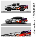 abstract racing graphic kit... | Shutterstock .eps vector #1033813987