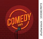 stand up comedy open mic vector ... | Shutterstock .eps vector #1033819873