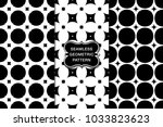 seamless pattern set  abstract... | Shutterstock .eps vector #1033823623