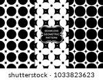 seamless pattern set  abstract... | Shutterstock .eps vector #1033823623