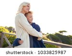 mother and son enjoying a sunny ... | Shutterstock . vector #1033825987