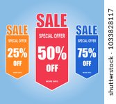 sale paper banner  special... | Shutterstock .eps vector #1033828117