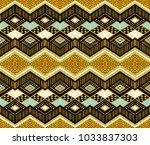 ikat geometric folklore... | Shutterstock .eps vector #1033837303