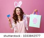 festive bunny and eggs season....   Shutterstock . vector #1033842577