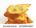 veg cheese garlic bread. | Shutterstock . vector #1033844287