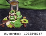gingerbreads for patrick's day... | Shutterstock . vector #1033848367