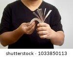 investments in thai baht   Shutterstock . vector #1033850113