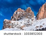winter in dolomites mountains | Shutterstock . vector #1033852303