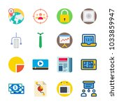 icon digital marketing with... | Shutterstock .eps vector #1033859947
