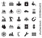 solid black vector icon set  ... | Shutterstock .eps vector #1033861603