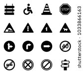 solid vector icon set   sign... | Shutterstock .eps vector #1033866163