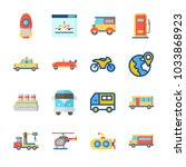 icon transportation with sport  ... | Shutterstock .eps vector #1033868923