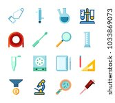 icon laboratory with separator... | Shutterstock .eps vector #1033869073