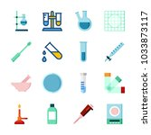 icon laboratory with watch... | Shutterstock .eps vector #1033873117