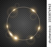 circle of light  stylish lights ... | Shutterstock .eps vector #1033876963
