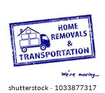 transportation and home removal ... | Shutterstock .eps vector #1033877317