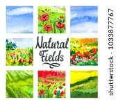 set of watercolor illustration...   Shutterstock . vector #1033877767