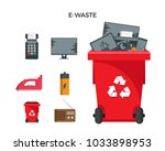 modern red recycle electronic...   Shutterstock .eps vector #1033898953