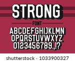 strong 3d font alphabet with... | Shutterstock .eps vector #1033900327