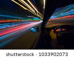 the car moves at high speed at... | Shutterstock . vector #1033902073