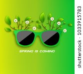 spring is coming. sunglasses in ... | Shutterstock .eps vector #1033915783