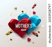 happy mothers day. vector... | Shutterstock .eps vector #1033928797