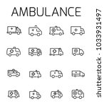 ambulance related vector icon... | Shutterstock .eps vector #1033931497