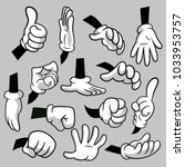 cartoon hands with gloves icon... | Shutterstock .eps vector #1033953757