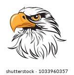 regal eagle head   Shutterstock .eps vector #1033960357