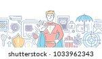 internet security   modern... | Shutterstock .eps vector #1033962343