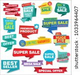 sale stickers and tags colorful ... | Shutterstock .eps vector #1033964407