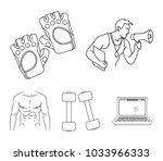 personal trainer  gloves ... | Shutterstock .eps vector #1033966333