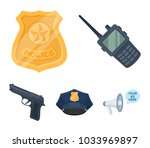radio  police officer's badge ... | Shutterstock .eps vector #1033969897