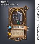 card of fantasy battle axe... | Shutterstock .eps vector #1033974727