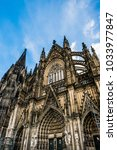 Small photo of Cologne Cathedral, monument of German Catholicism and Gothic architecture in Cologne, Germany